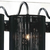 """Picture of 18"""" Gocce Modern Crystal String Shade Vanity Light Linear Wall Sconce 3 Lights"""