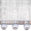 """Picture of 18"""" Gocce Modern Crystal String Shade Vanity Light Wall Sconce 3 Lights"""