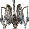 "Picture of 18"" Imperatore Traditional Crystal Candle Round Chandelier Antique Brass 5.Lights"