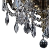 "Picture of 18"" Imperatore Traditional Crystal Candle Round Chandelier Antique Brass 6 Lights"