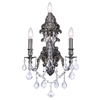 "Picture of 18"" Imperatore Traditional Crystal Candle Wall Sconce Antique Brass 3 Lights"