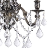 """Picture of 18"""" Imperatore Traditional Crystal Candle Wall Sconce Antique Brass 4 Lights"""