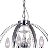 """Picture of 18"""" Led Cage Modern Crystal Round Pendant Chandelier Polished Chrome 4 Lights"""