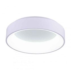 "18"" LED Drum Shade Flush Mount with Gray & White finish"