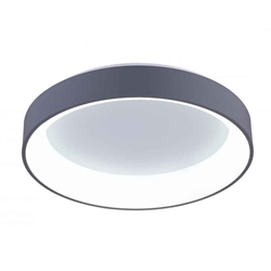 "18"" LED Drum Shade Flush Mount with White finish"