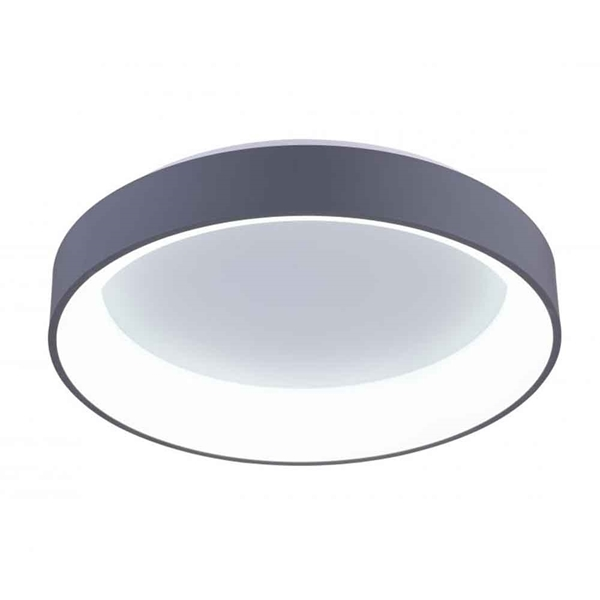 """Picture of 18"""" LED Drum Shade Flush Mount with White finish"""