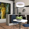 """Picture of 18"""" LED Drum Shade Pendant with White finish"""