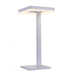 """18"""" LED Table Lamp with Matte White finish"""