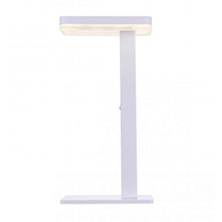 """18"""" LED Table Lamp with White finish"""