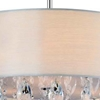 """Picture of 18"""" Struttura Modern Crystal Round Pendant Double Shade Offwhite Fabric 4 Lights"""