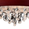"""Picture of 18"""" Struttura Modern Crystal Round Pendant Double Shade Wine Red Fabric 4 Lights"""