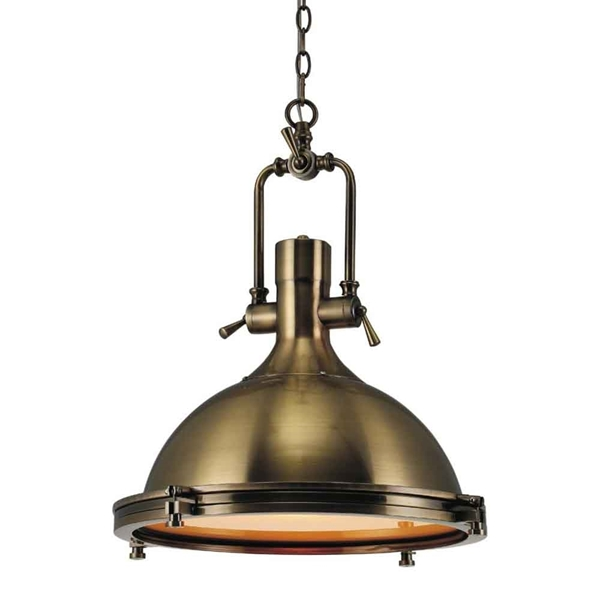 "Picture of 19"" 1 Light Down Pendant with Antique Bronze finish"