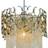 "Picture of 19"" 1 Light Drum Shade Mini Pendant with Chrome finish"