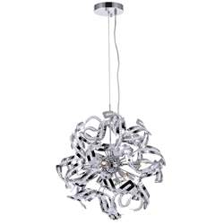 "19"" 12 Light  Chandelier with Chrome finish"