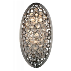 "19"" 2 Light Wall Sconce with Satin Nickel finish"