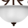 "Picture of 19"" 3 Light Bowl Flush Mount with Dark Bronze finish"