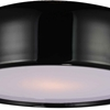 "Picture of 19"" 3 Light Drum Shade Flush Mount with Black finish"