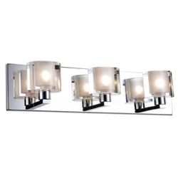 "19"" 3 Light Wall Sconce with Chrome finish"