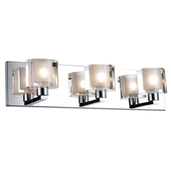 """19"""" 3 Light Wall Sconce with Satin Nickel finish"""