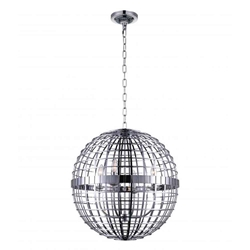 """19"""" 4 Light  Chandelier with Chrome finish"""