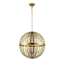 """19"""" 4 Light  Chandelier with Gold finish"""