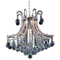 """19"""" 4 Light Down Chandelier with Chrome finish"""