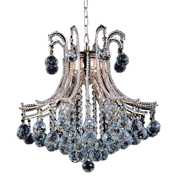 "Picture of 19"" 4 Light Down Chandelier with Chrome finish"
