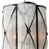 """Picture of 19"""" 4 Light Drum Shade Pendant with Antique Brass finish"""