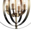 """Picture of 19"""" 4 Light Up Chandelier with Antique Brass finish"""