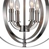 "Picture of 19"" 4 Light Up Chandelier with Satin Nickel finish"