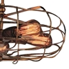 """Picture of 19"""" 5 Light  Flush Mount with Antique Copper finish"""