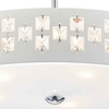 "Picture of 19"" 5 Light Down Chandelier with White finish"