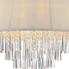 "Picture of 19"" 6 Light Drum Shade Chandelier with Chrome finish"
