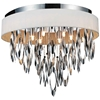 "Picture of 19"" 6 Light Drum Shade Flush Mount with Chrome finish"