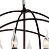 "Picture of 19"" 6 Light Up Chandelier with Brown finish"