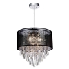 "Picture of 19"" 8 Light Drum Shade Chandelier with Chrome finish"