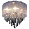 "Picture of 19"" 8 Light Drum Shade Flush Mount with Chrome finish"