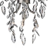 "Picture of 20"" 1 Light Down Mini Chandelier with Silver Mist finish"