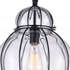 """Picture of 20"""" 1 Light Down Pendant with Black & Wood finish"""