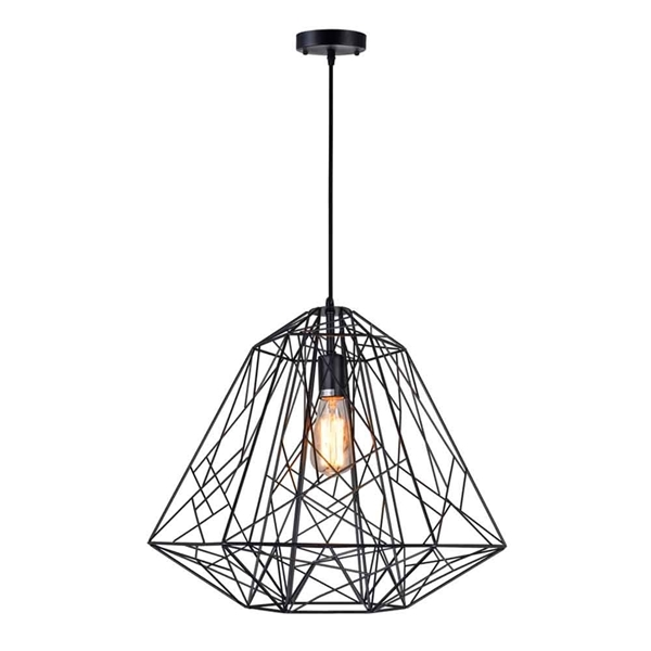 "Picture of 20"" 1 Light Down Pendant with Black finish"