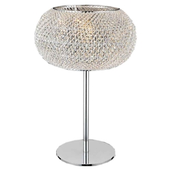 "20"" 1 Light Table Lamp with Chrome finish"