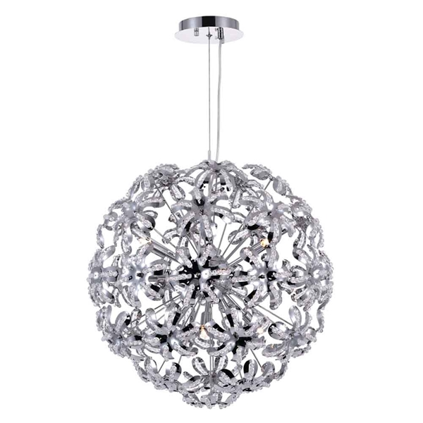 "Picture of 20"" 10 Light Down Chandelier with Chrome finish"