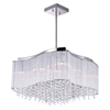 "Picture of 20"" 10 Light Drum Shade Chandelier with Chrome finish"