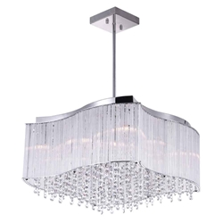 """20"""" 10 Light Drum Shade Chandelier with Chrome finish"""
