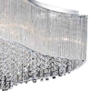 """Picture of 20"""" 10 Light Drum Shade Flush Mount with Chrome finish"""