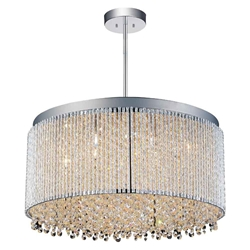 "20"" 12 Light Drum Shade Chandelier with Chrome finish"
