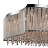 "Picture of 20"" 12 Light Drum Shade Chandelier with Chrome finish"
