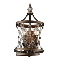 """20"""" 2 Light Wall Sconce with Speckled Bronze finish"""