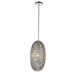 "20"" 3 Light  Mini Pendant with Satin Nickel finish"