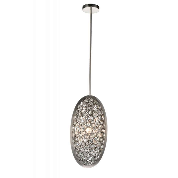 "Picture of 20"" 3 Light  Mini Pendant with Satin Nickel finish"
